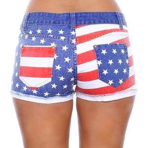Shorts - Women s USA American Flag Denim Shorts Jean Shorts a6df5408b1